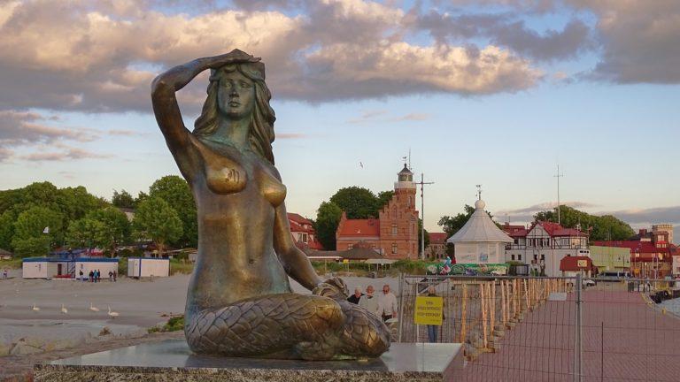 Stolpmünde Ustka Meerjungfrau