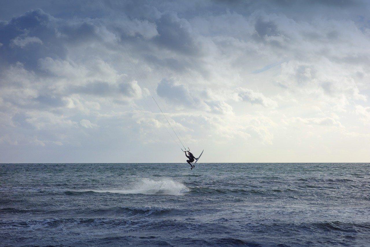 kiten an der deutschen Ostsee